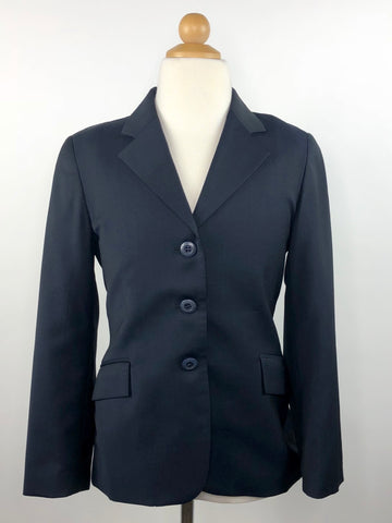 Grand Prix Extreme Stretch Hunt Coat in Navy - Front View