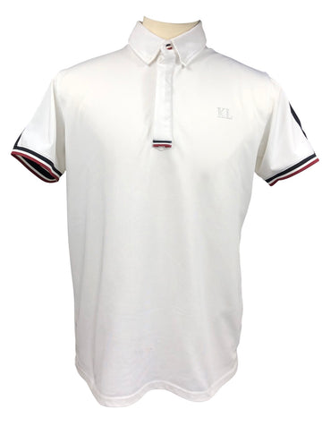 Kingsland Tech Polo in White/Black - Men's XL