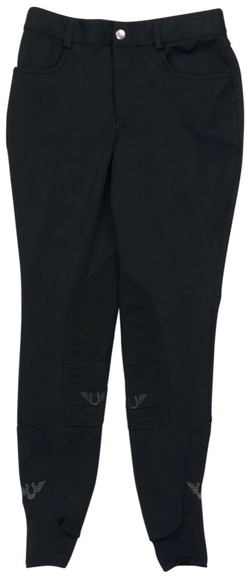 Tuff Rider Wellesley Breeches in Black - Children's 12 | M