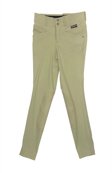 Kerrits Crossover Knee Patch Breeches in Tan - Children's L