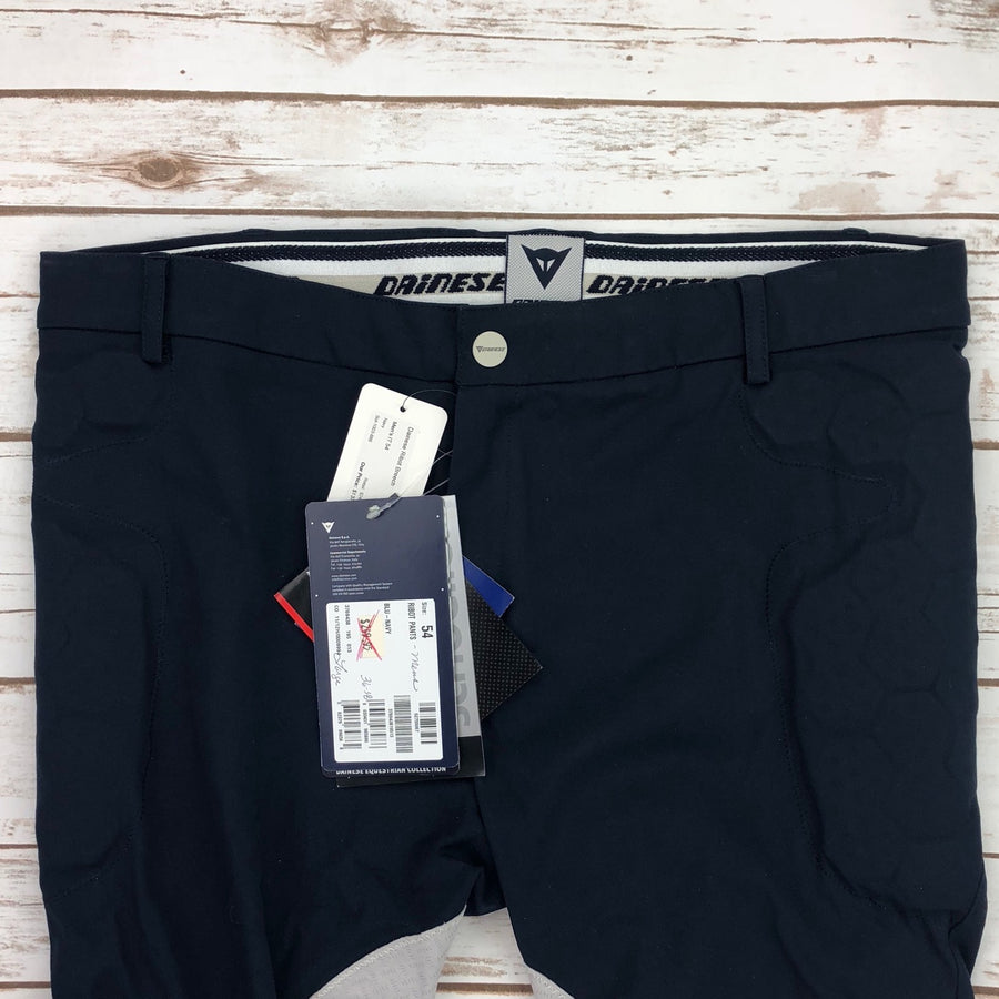 Dainese Ribot Breeches in Navy - Front Close Up View