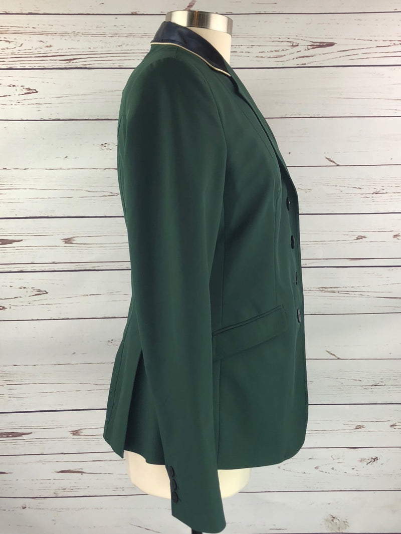 Equiline X-Cool Competition Jacket in Green/Navy Collar - Women's IT 48