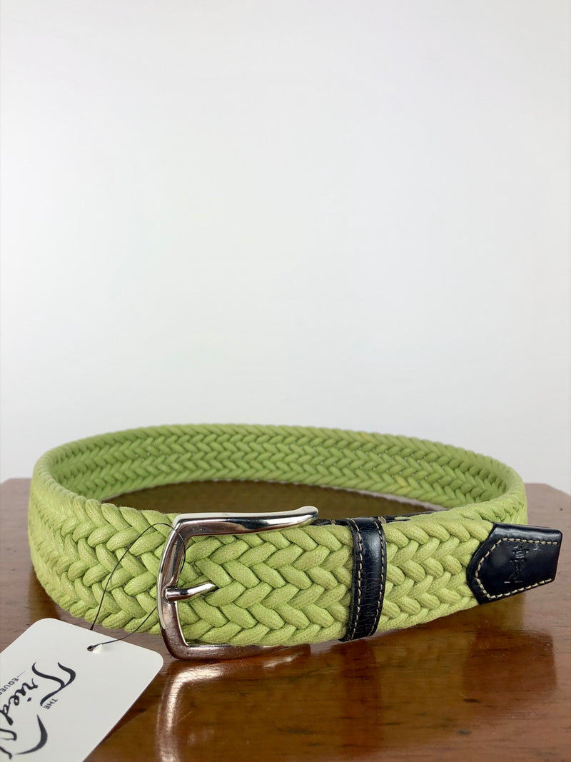 Vicomte Arthur Braided Belt in Green - 75cm