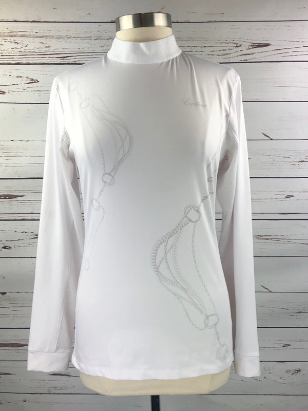 Equiline Nadia Show Shirt in White - Women's XL