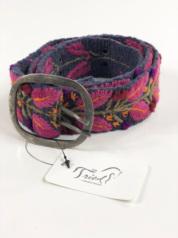 Jenny Krauss Wool Belt in Raspberry Floral - Women's Large