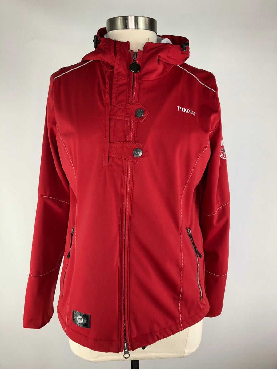 Pikeur Aventina Softshell Jacket in Red - Women's Ger 42 | L