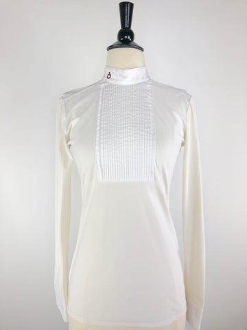 Cavalleria Toscana Bib Tech Show Shirt in Ivory -  Front View