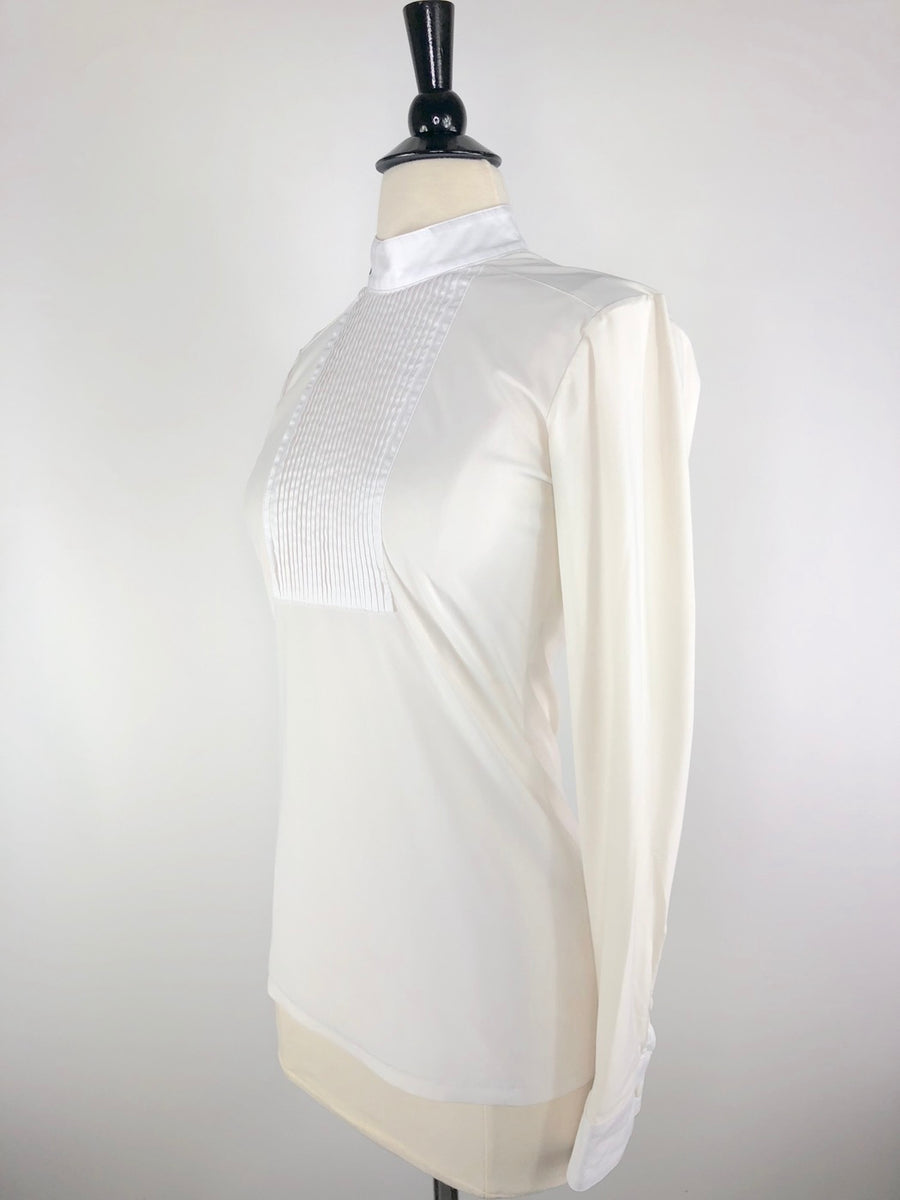 Cavalleria Toscana Bib Tech Show Shirt in Ivory -  Left Side View