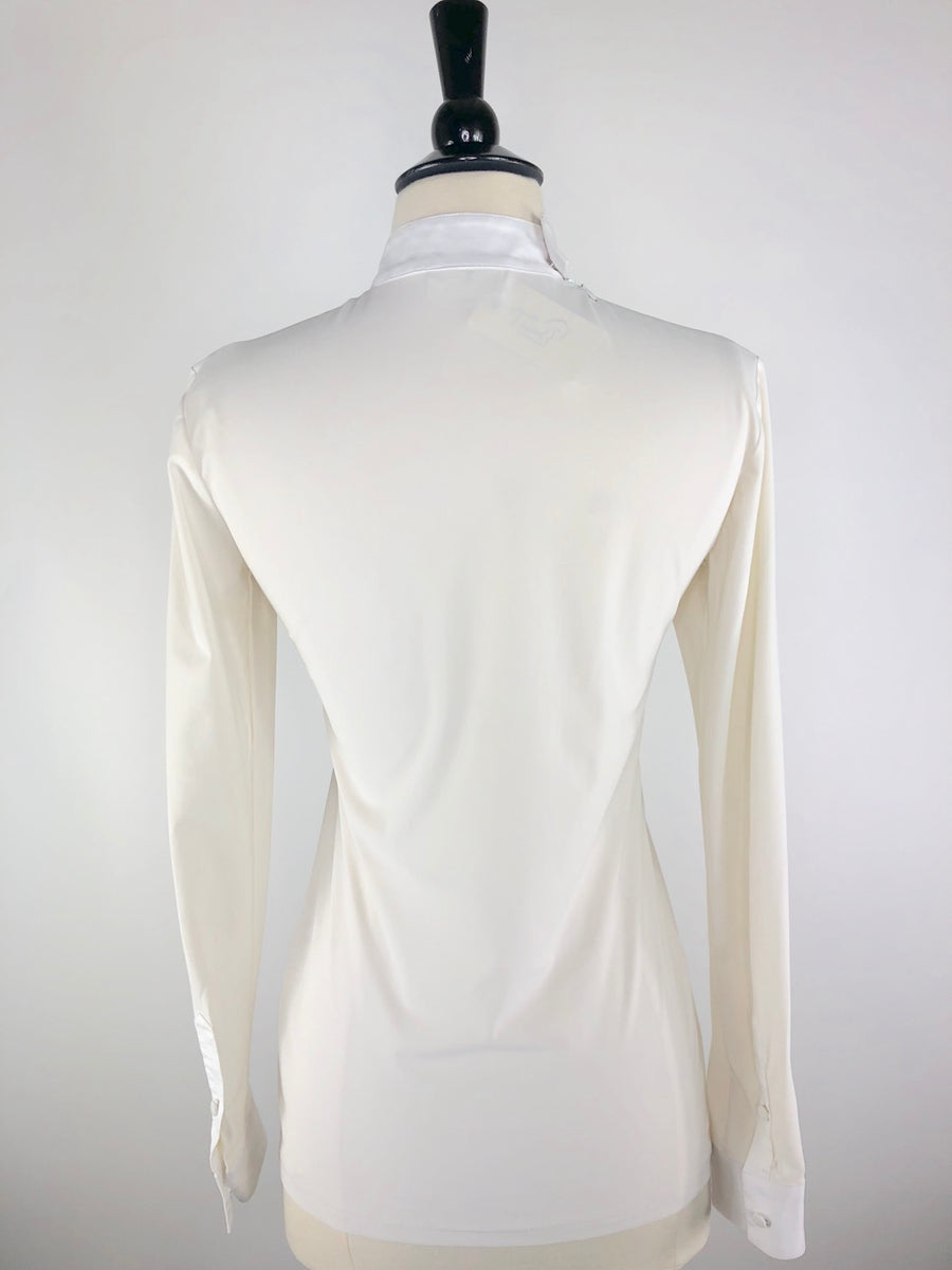 Cavalleria Toscana Bib Tech Show Shirt in Ivory -  Back View