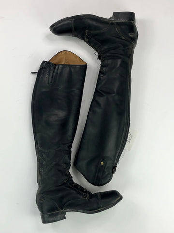 Ariat Heritage Contour Field Boots in Black- Top View