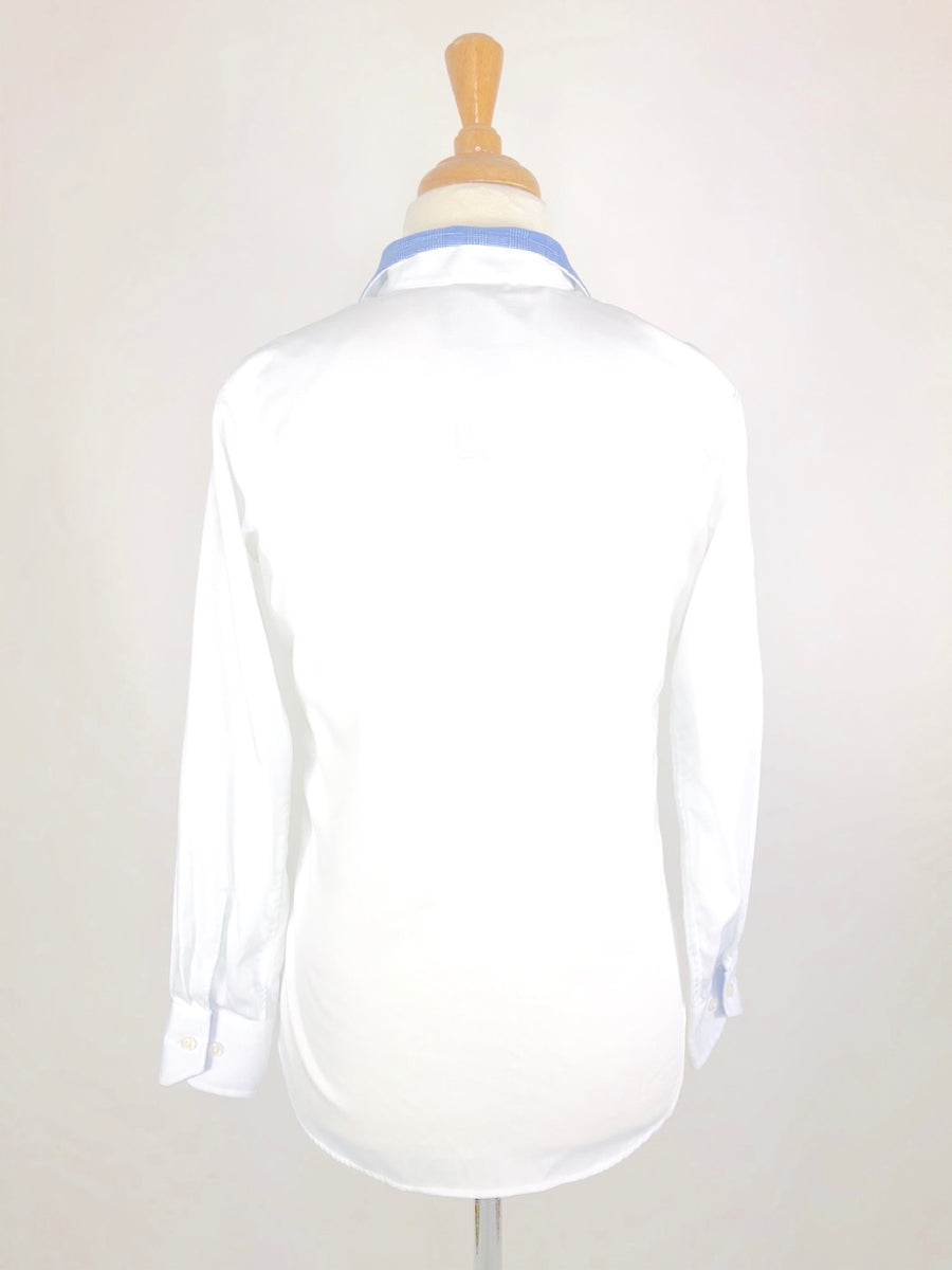 Beacon Hill Show Shirt in White/Blue- Back View