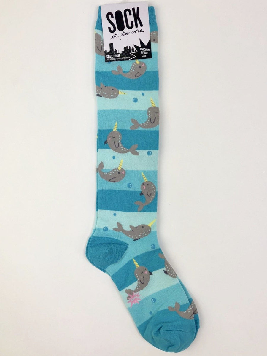 Sock It to Me Knee High Socks in Unicorn of the Sea