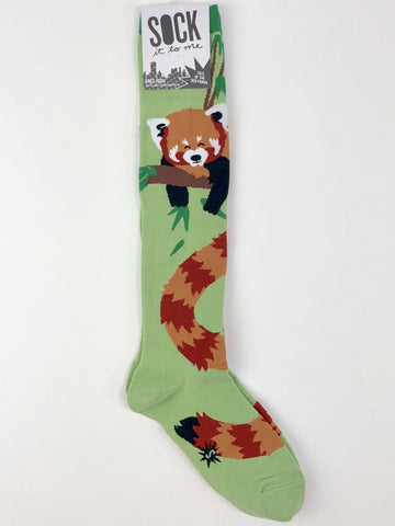 NWT Sock It to Me Knee High Socks in Tale of the Red Panda