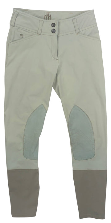 Mastermind Mid-Rise Knee Patch Breeches in Beige  - Children's 14 | L