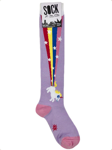 NWT Sock It to Me Knee High Socks in Rainbow Blast