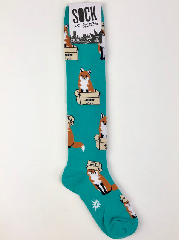 Sock It to Me Knee High Socks in Foxes in Boxes