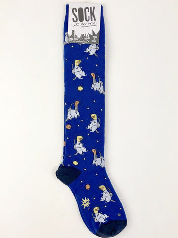 NWT Sock It to Me Knee High Socks in Dinos in Space