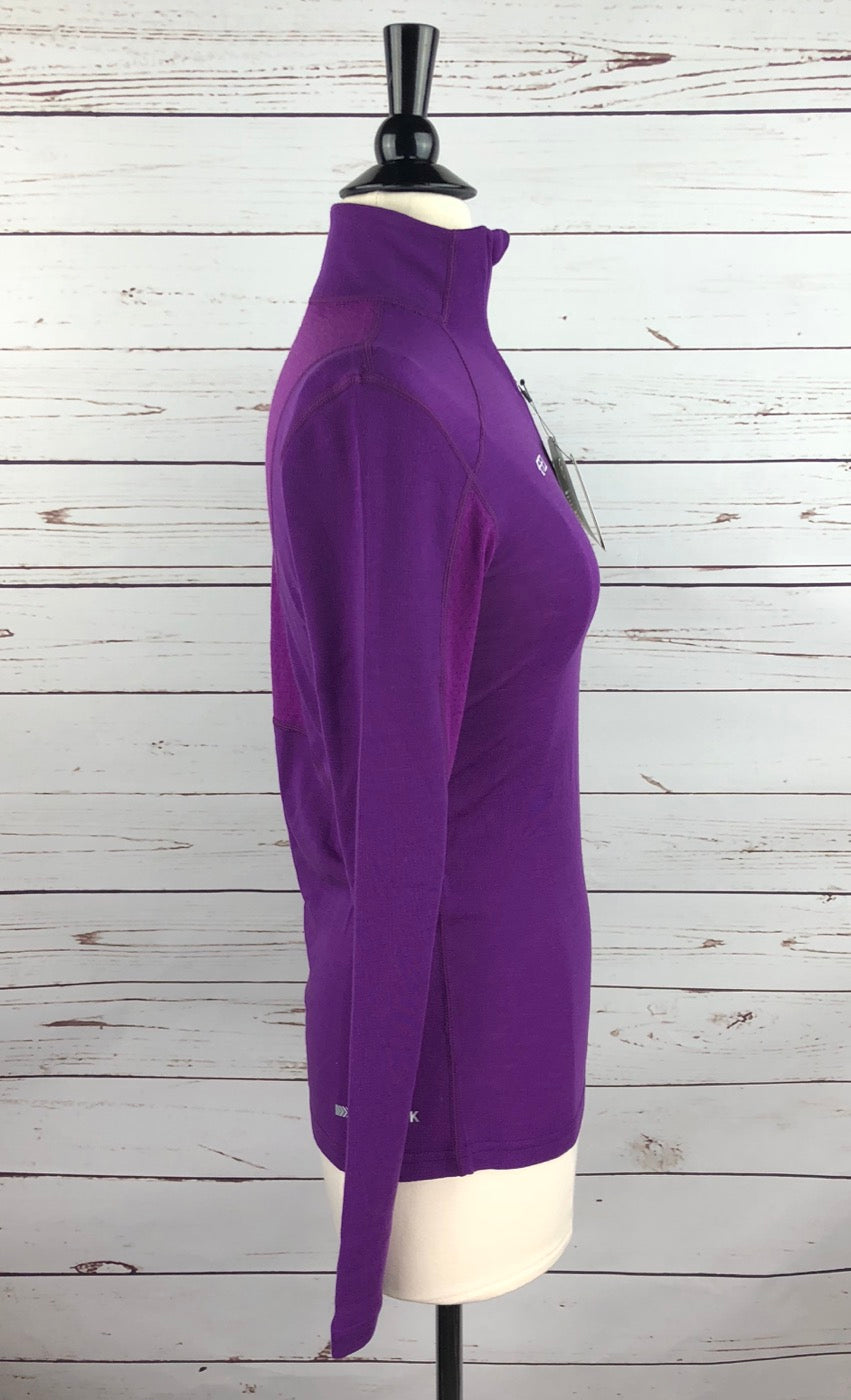 Ariat Cadence Wool 1/4 Zip Top in FEI Purple- Right Side View
