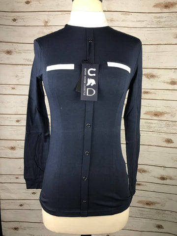Sport Horse Lifestyle Karli Show Shirt in Navy - Women's Medium
