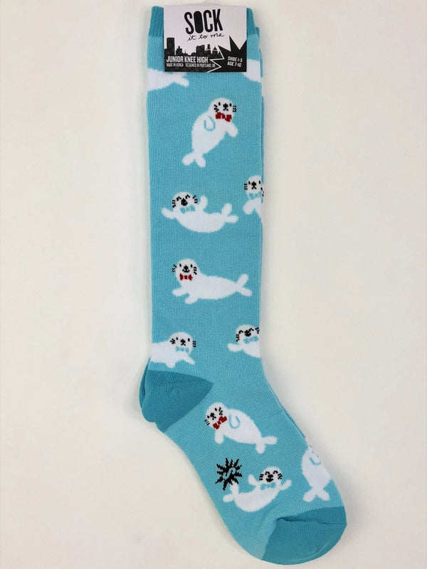 Sock It to Me Junior Knee High Socks in Baby Seals