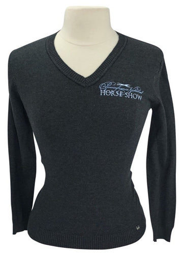 front view of North End 'Pennsylvania National HS' in Charcoal Grey- logo on left shoulder