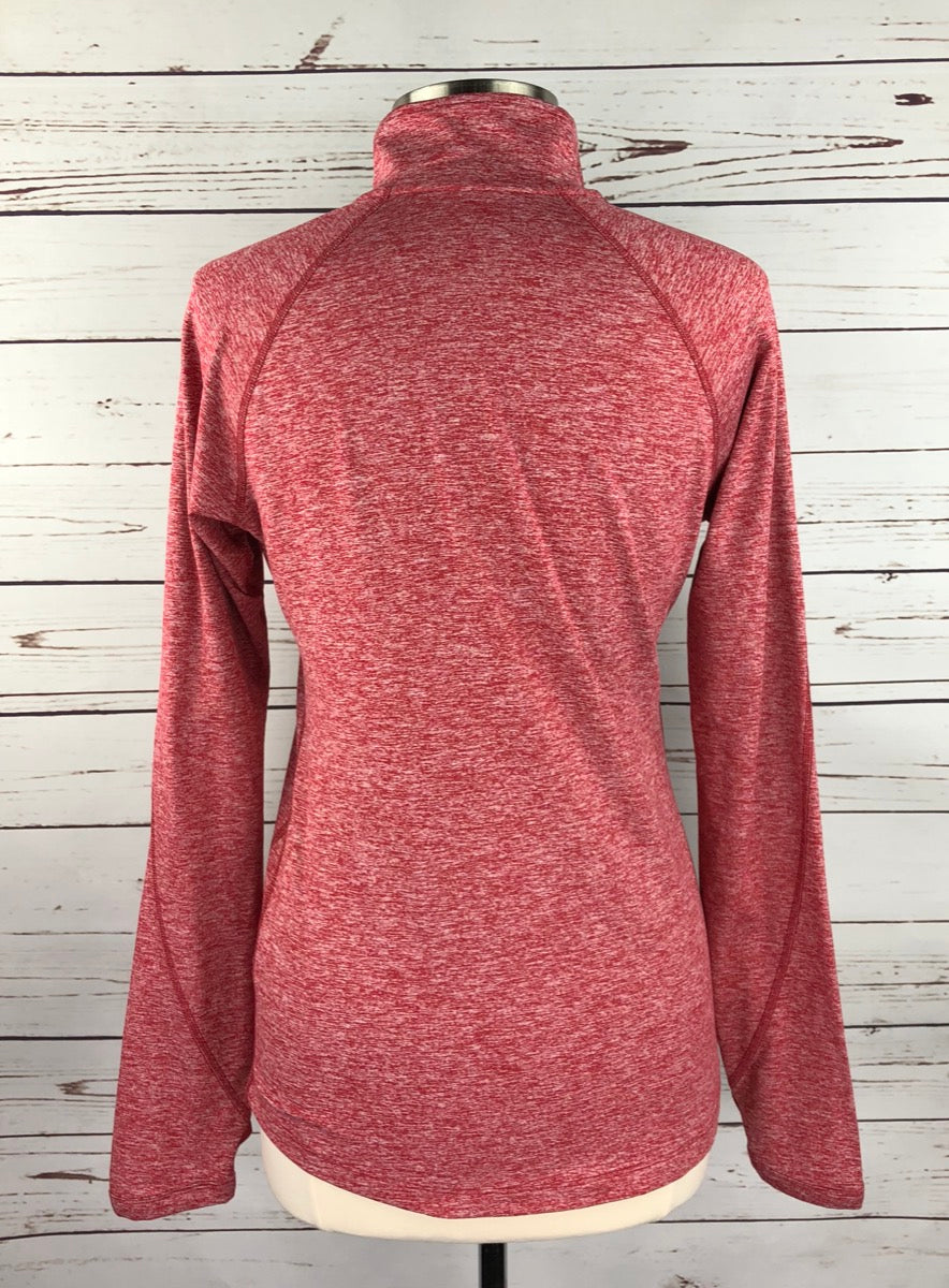 Nike Dri-Fit Stanford Cardinal 1/4 Zip in Red Heather - Back View