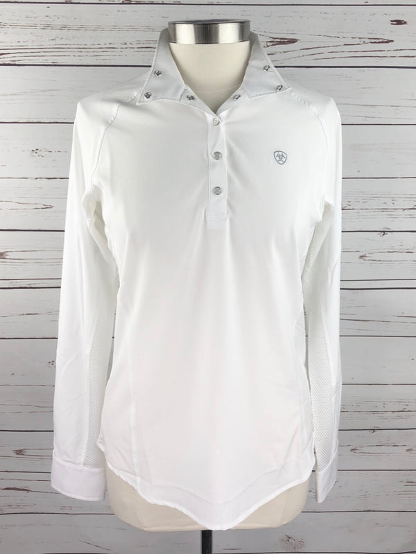 Ariat Aero Show Shirt in White - Women's Medium
