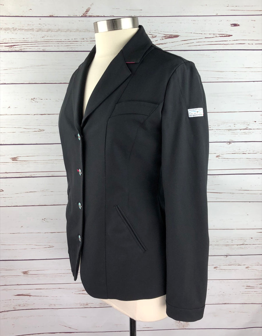 Animo Competition Jacket in Black- Left Side View