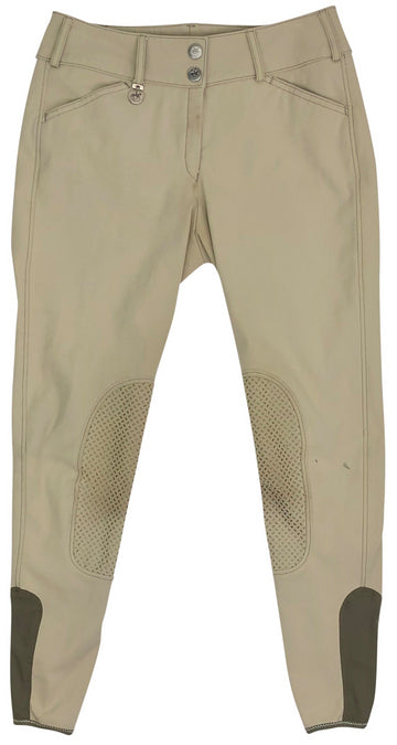 front of Pikeur Ciara Grip Breeches in Tan