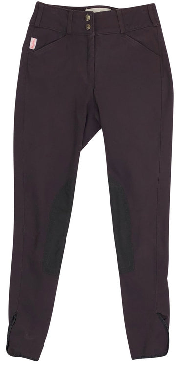 front view of Tailored Sportsman Trophy Hunter Breeches in Boysenberry