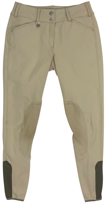 front view of Pikeur Ciara Grip Breeches in Tan