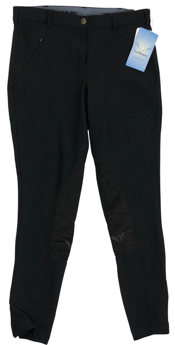 TuffRider Low Rise Ribb Breeches in Black - Women's US 28 | M