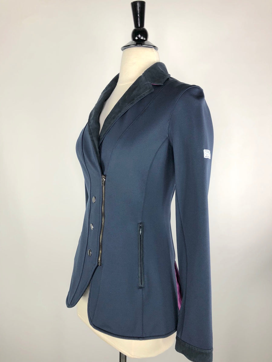 Navy Animo Competition Jacket- Left Side View