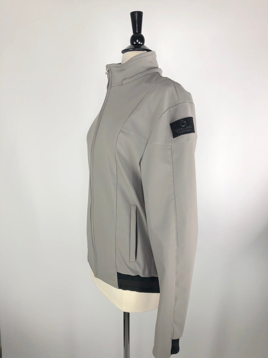 Cavalleria Toscana Softshell Jacket in Grey -  Left Side View