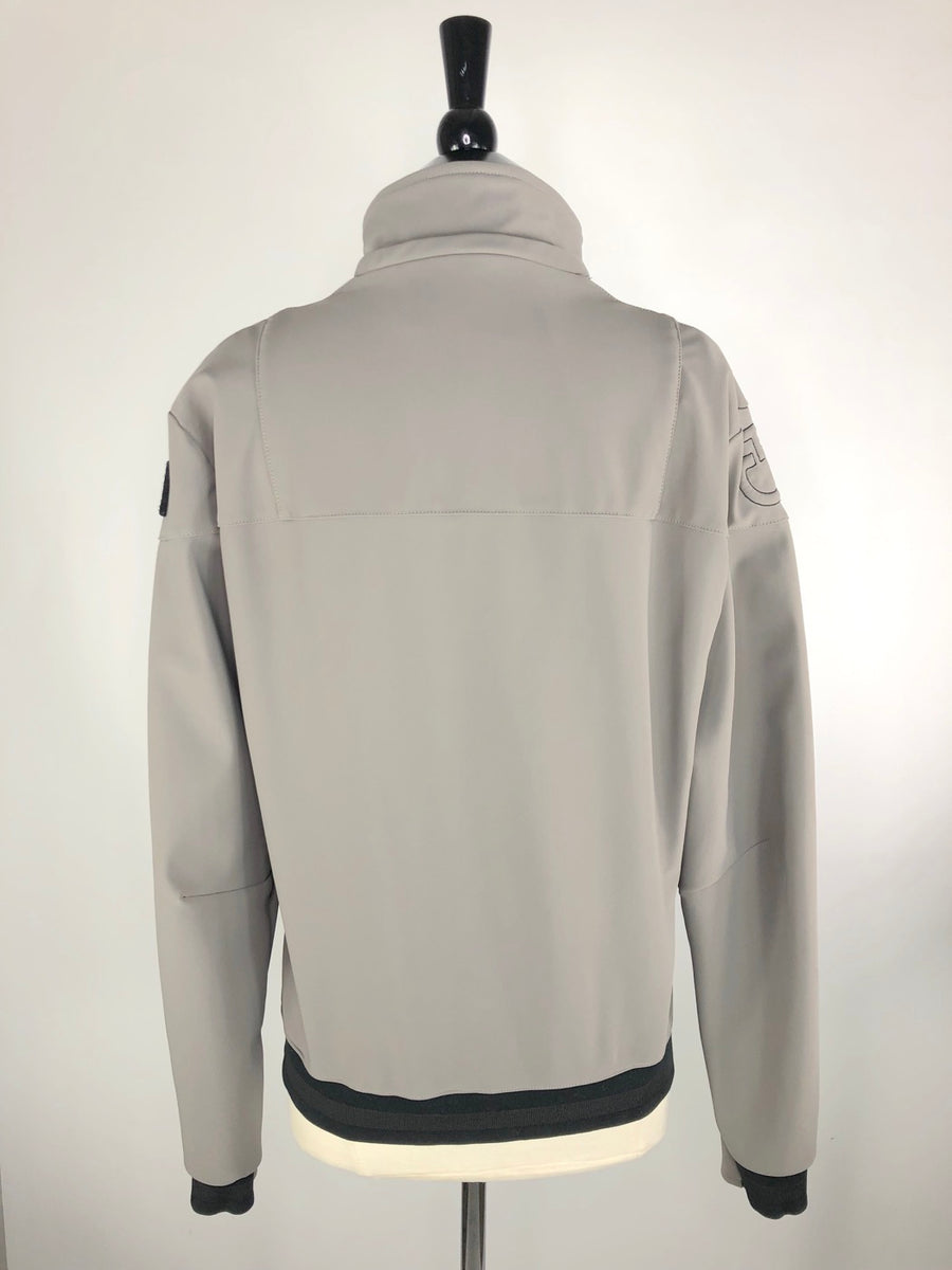Cavalleria Toscana Softshell Jacket in Grey -  Back View
