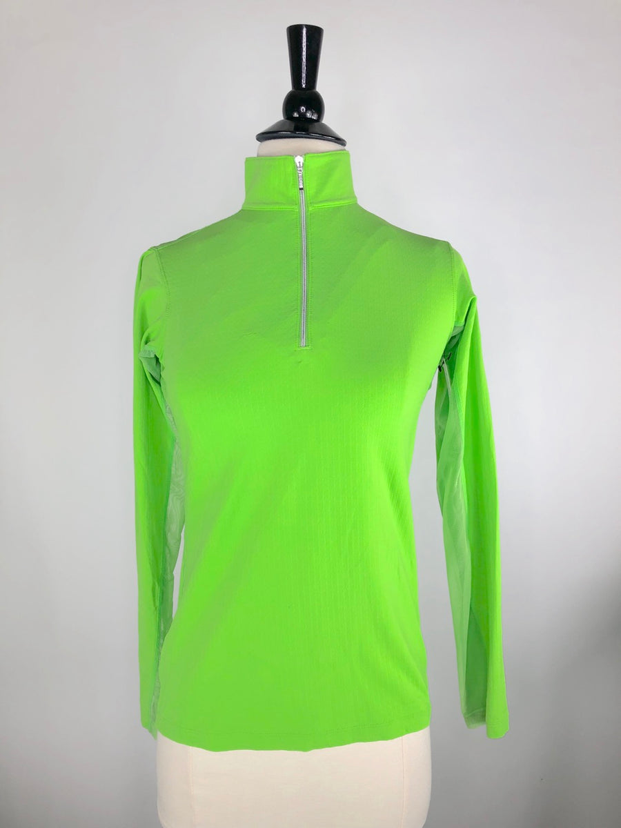 Dover Saddlery CoolBlast IceFil Long Sleeve Shirt in Lime Green -  Front View