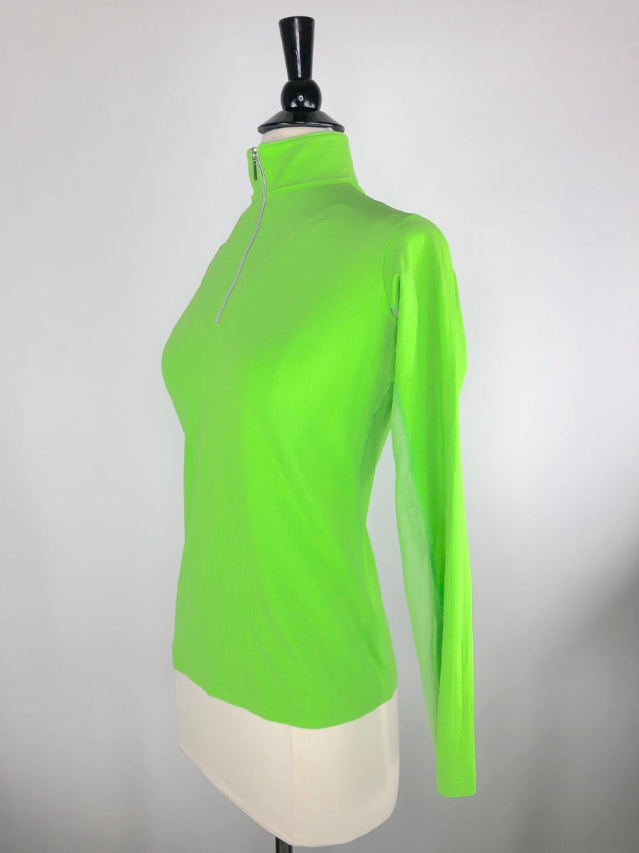 Dover Saddlery CoolBlast IceFil Long Sleeve Shirt in Lime Green -  Left Side View