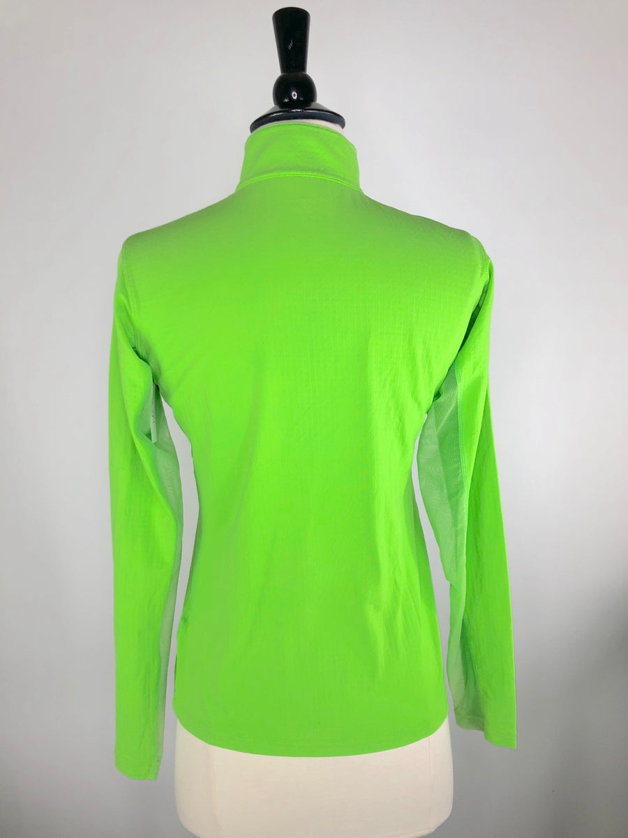 Dover Saddlery CoolBlast IceFil Long Sleeve Shirt in Lime Green -  Back View