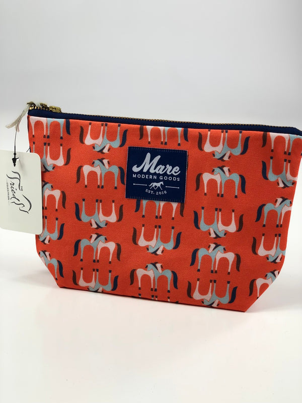 Mare Modern Goods Lovey Zipper Pouch in Orange - One Size