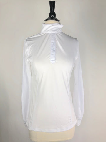 Kastel Charlotte Show Shirt in White - Front View