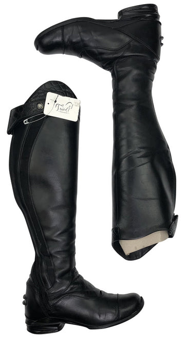 top view of Ariat Vortex S Tall Boot in Black