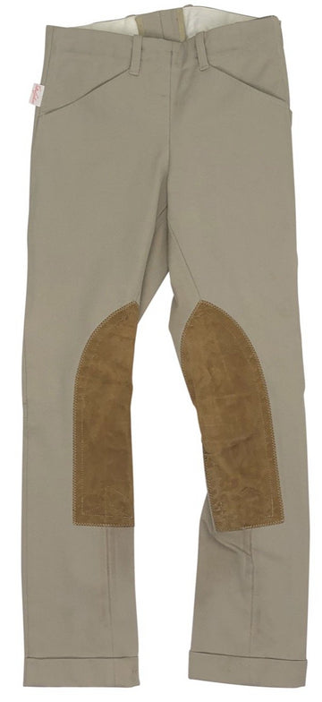 front view of Tailored Sportsman TS Side Zip Jods in Tan