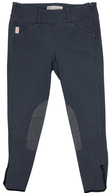 front view of Tailored Sportsman Trophy Hunter Side Zip Breeches in French Blue