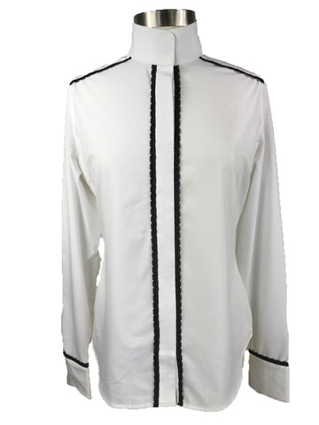 RJ Classics Plymouth Lace Show Shirt in White -  Front View