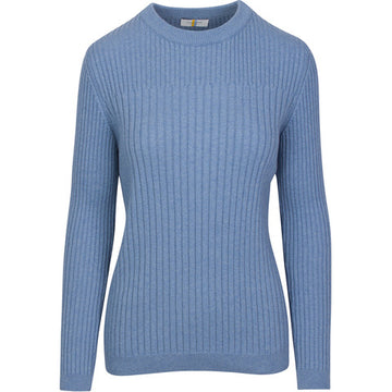 Callidae 'The Rib Crewneck' in Pale Lapis - Women's XS