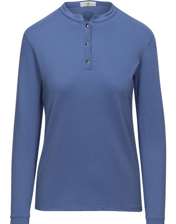 Callidae Snap Polo in Cornflower/Grey Ribbon