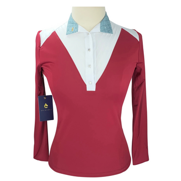 CRINIĒRE Amelie Show Shirt in Deep Burgundy