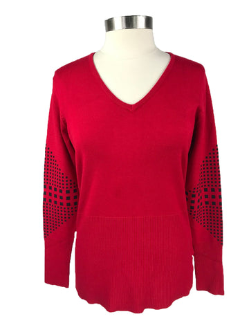 Horseware Platinum Sina Knit Top in Red - Front View
