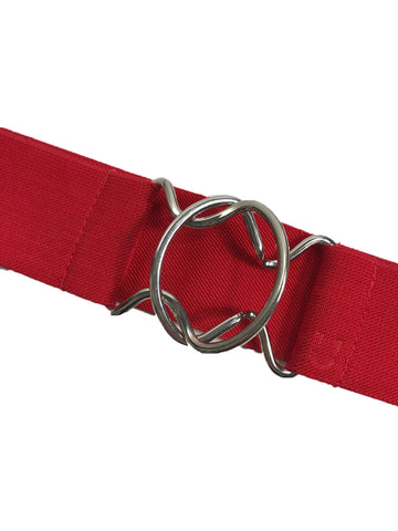 Ruespari Belt in Red w/ Silver Clasp - Women's M/L