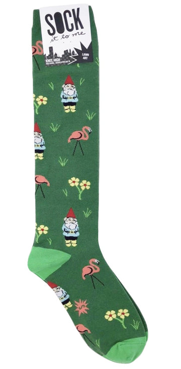 Sock It to Me Knee High Socks in Lawn Art